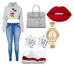 """Untitled #231"" by teamfyb on Polyvore featuring Topshop, City Chic, Michael Kors, Hermès and Lime Crime"