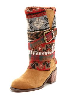 Very cute but a bit much - I'm looking for a boot for the winter that has a patterned top but I don't think this is it.