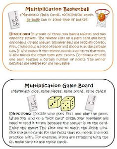 Common Core Multiplication Intervention Activities