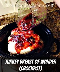 Turkey isn't just for November for my family we love to eat it all the time! Especially this fabulous, couldn't be EASIER (5 minutes prep is all you need), moist, tender, shred-able, Turkey Breast of Wonder made in the crockpot!