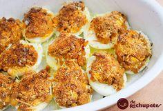 Los habéis probado alguna vez? Una receta un poco viejuna pero muy muy rica. Huevos rellenos de carne http://www.recetasderechupete.com/huevos-rellenos-de-carne/13102/ #receta