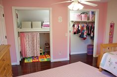 We love what these homeowner's did in their daughter's closet - removing the doors has opened the room up and added a great play space for her as well! 209 Chancery Lane, Mankato