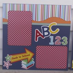Back to School Premade Scrapbook Layout by Scrappin2gether on Etsy