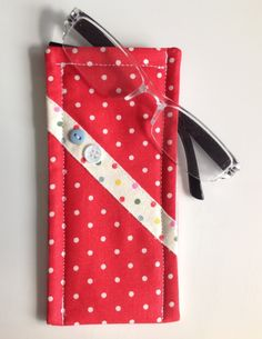 Cath Kidston Red Spot Fabric Glasses Case by sewmoira on Etsy