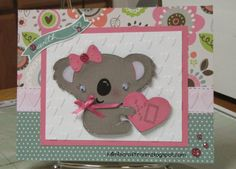 Close to My Heart Lollydoodle Valentine's Day Card with Create a Critter 2 cartridge.  I just love this paper. Visit mimiscraftroom.blogspot.com for instructions.