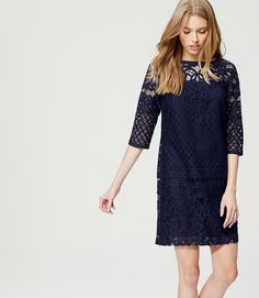 Primary Image of Lace Shift Dress