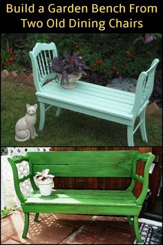 Inspired to make your own garden bench? - Inspired to make your own garden bench? - Tess Sy Inspired to make your own garden bench? Inspired to make your own garden bench? Furniture Projects, Furniture Makeover, Garden Furniture, Diy Furniture, Garden Bench Cushions, Outdoor Garden Bench, Diy Garden Benches, Outdoor Benches, Pallet Benches