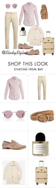 """Men in pink"" by sleekstylish ❤ liked on Polyvore featuring Giorgio Armani, Calvin Klein Collection, Barton Perreira, John Varvatos, n.d.c., Byredo, Bonobos, Bric's, men's fashion and menswear"