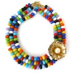 Many a Varied Splendor necklace by Elva Fields