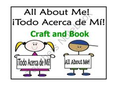 All About Me! Todo Acerca de Mi! Craft and Book  from Bilingual Resources on TeachersNotebook.com -  (46 pages)
