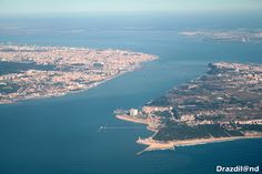 Fotografias aéreas das zonas de Lisboa, Almada e arredores