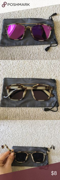 ✨TRENDY SUNGLASSES 5 FOR 25 CLOSET DEAL #1 Brand new, never worn. These are pretty flimsy feeling so they'd be great as beach or pool sunglasses. Come with drawstring case. This is part of my 5 for 25 deal in my closet, anything labeled 5 for 25 is apart of it. Just leave me a comment on any of the listings with the numbers of the listings you would like and I will make a bundle for you! Feel free to ask any questions! Check out the other awesome items in my closet thanks! ✨ Accessories…