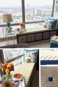 IKEA Bookshelf window seat & storage
