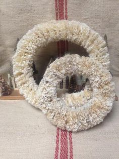 Bottle Brush Wreath (2 sizes) , Holiday Decor - Vintage Market And Design, Vintage Market And Design