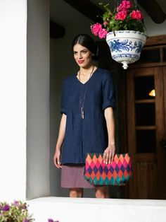 Ready for the day! Linen tunic Adela.