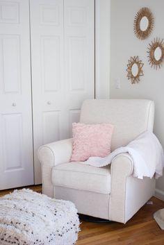 Nursery Inspiration: Natural Wood Dresser, Pink Chair Nursery, Pink And  Natural Wood Nursery, Pier One Imports Dresser, Gold Nursery, Glam Nursery,u2026