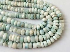 Larimar Beads Larimar Faceted Rondelle Original by gemsforjewels