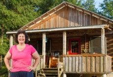 Watch Becky Build Her Own Homestead Cabin From A Kit
