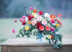 bright blooms for the tablescape | Fern Studio Floral and Event Design