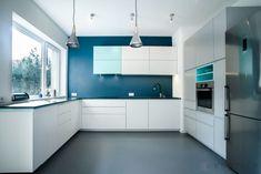 propozycja wprowadzenia koloru do opcji łazienki Kitchen Cabinets, Home Decor, Decoration Home, Room Decor, Cabinets, Home Interior Design, Dressers, Home Decoration, Kitchen Cupboards