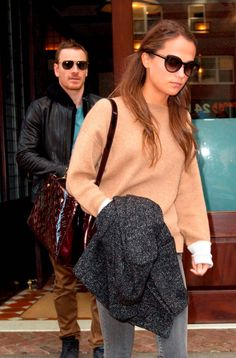 Michael Fassbender and Alicia Vikander out and about in New York. Picture: Startraks Photo/REX Shutterstock