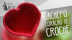 CACHEPÔ DE CORAÇÃO EM CROCHÊ