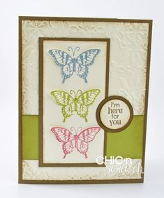Stampin Up's Papillon Potpourri stamp set (and it has a coordinating elegant butterfly punch)---love it!