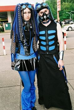 Cyber Goth Couple by fluffy_steve, via Flickr