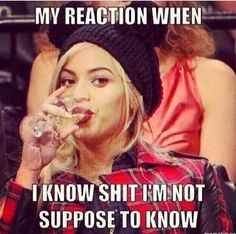 Beyonce Funny, Beyonce Memes, Namaste, Haha, Funny Quotes, Funny Memes, Jokes, Funny Captions, Random Quotes