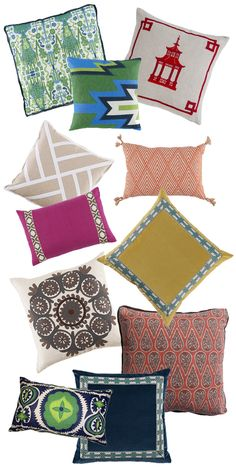 for the love of throw pillows via Waiting on Martha   Lacefield Pillows www.lacefielddesigns.com