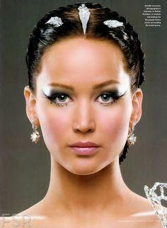 on http://www.glamourjournals.com/ - The Hunger Games Jennifer Lawrence Makeup Tutorial   Catching Fire Makeup Tutorial