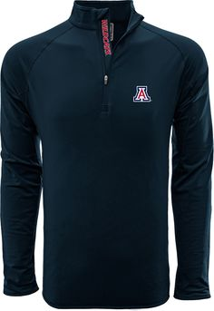Levelwear Men s Arizona Wildcats Navy Metro Quarter-Zip Pullover 64b4e61a4a50