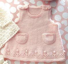 Ravelry: Baby Flower Dress pattern by Sakiko Honma (本間さき子) Babyhutmädchen Baby Flower Dress pattern by Sakiko Honma (本間さき子) Babyhutmädchen Baby Knitting Patterns, Baby Sweater Knitting Pattern, Baby Dress Patterns, Knitting Designs, Girls Knitted Dress, Knit Baby Dress, Layette Pattern, Baby Model, Kids Outfits
