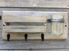 Rustic Mail Organizer and Key Rack with by GrasshopperHillFarm