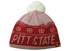 f877c7e2619 Pitt State Gorillas Women s Adidas Knit Hat with Pom - Red White