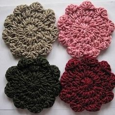 Free Crochet Pattern: Cool Coasters 1 by Erin at crochetspot