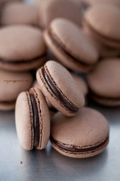 Chocolate - Moje Wypieki | Makaroniki czekoladowe