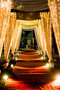 Whether you are planning your or are a fan of the big fat wedding, we bring to you some of the best wedding images that have caught our fancy. Scroll on for some wedding entrance 21 Wedding Decoration Images to Feast Your Eyes on - Bride-To-Be Take Notes Wedding Walkway, Wedding Reception Entrance, Wedding Hall Decorations, Desi Wedding Decor, Wedding Mandap, Indian Wedding Receptions, Reception Stage Decor, Marriage Decoration, Reception Ideas