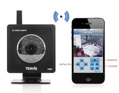 "Mini WiFi IP Camera ""Tenvis Mini"" - 640x480, 1/4 Inch Color CMOS Sensor"