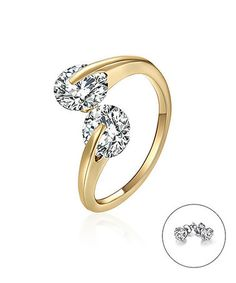 Look what I found on #zulily! Golden Ava Ring Made with Swarovski® Elements #zulilyfinds