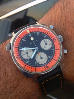 Vintage Zenith Super Sub Sea Divers Chronograph In Stainless Steel