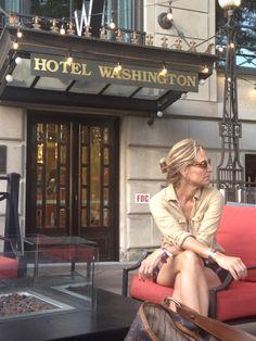 Washington hotel terrace
