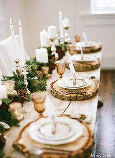 Belle présentation de table pour les fêtes de fin d'année par Jenny Collier