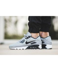 low priced 262be bb4ae Nike Air Max 90 Ultra SE Wolf Grey Black Trainers 50% off Sale