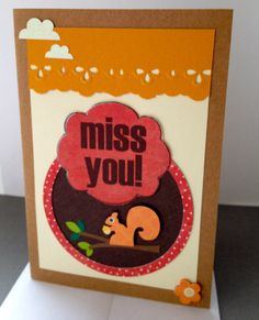 Greeting Card  Miss You Outdoors Design by ScrapsandStraps on Etsy, $3.50