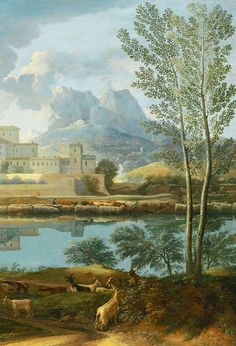 Nicolas Poussin. Detail from Landscape with a Calm, 1651