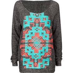 FULL TILT Navajo Screen Womens Sweatshirt 188993100 | sweatshirts   adorable with leggings