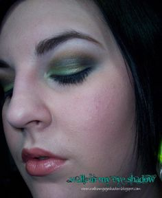 Makeup Monday - Smokey Green, Blue and Olive Look [Nov 2009]