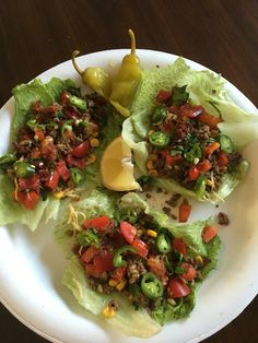 My Ground Beef Lettuce Wraps