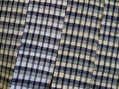 Sri | A Black and White Sakiori Obi: Fine Rag Weaving